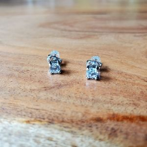 Sterling Silver .925 Cubic Zirconia Posts